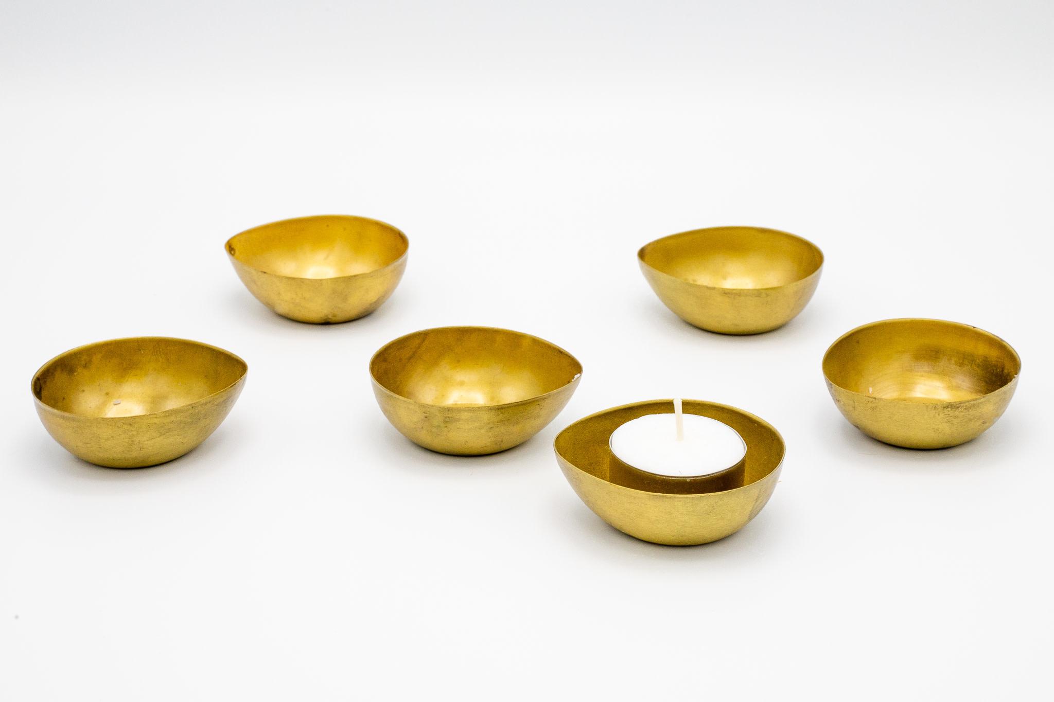 Theelichthouders Goud Set Van 6-1