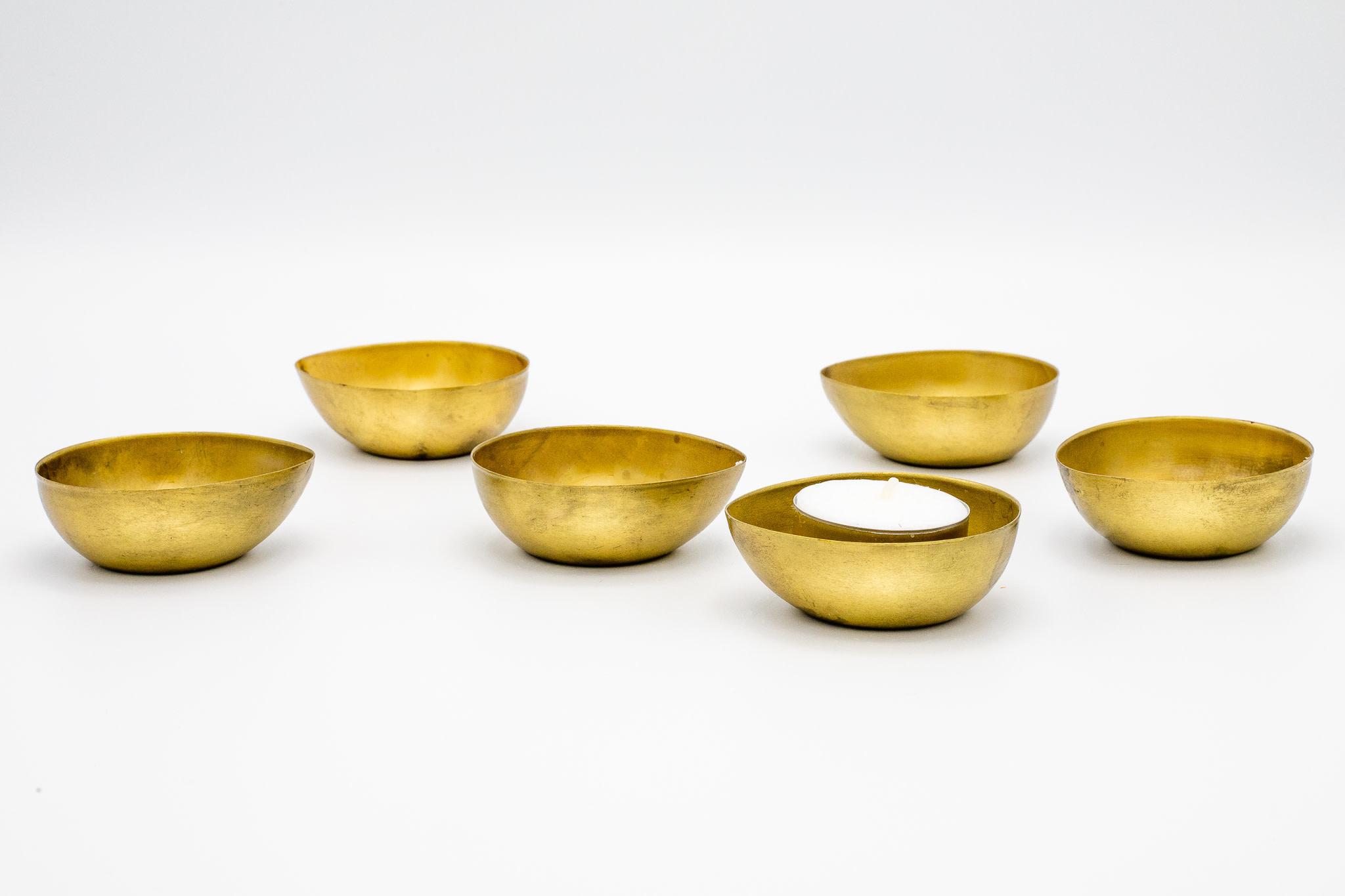 Theelichthouders Goud Set Van 6-3