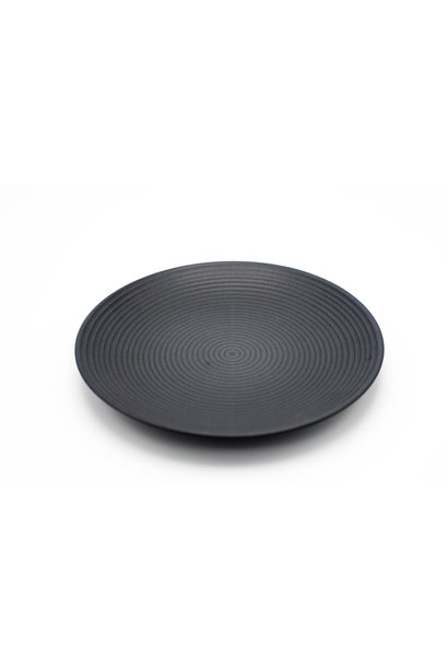 Ontbijtbordje Cirkel Zwart