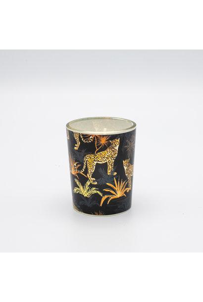 Kaarsje Print - Luipaard Zwart