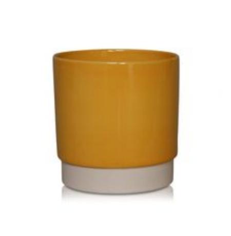 Bloempot Donkergeel - Medium-1
