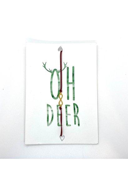 Oh Deer Wenskaart Met Armbandje