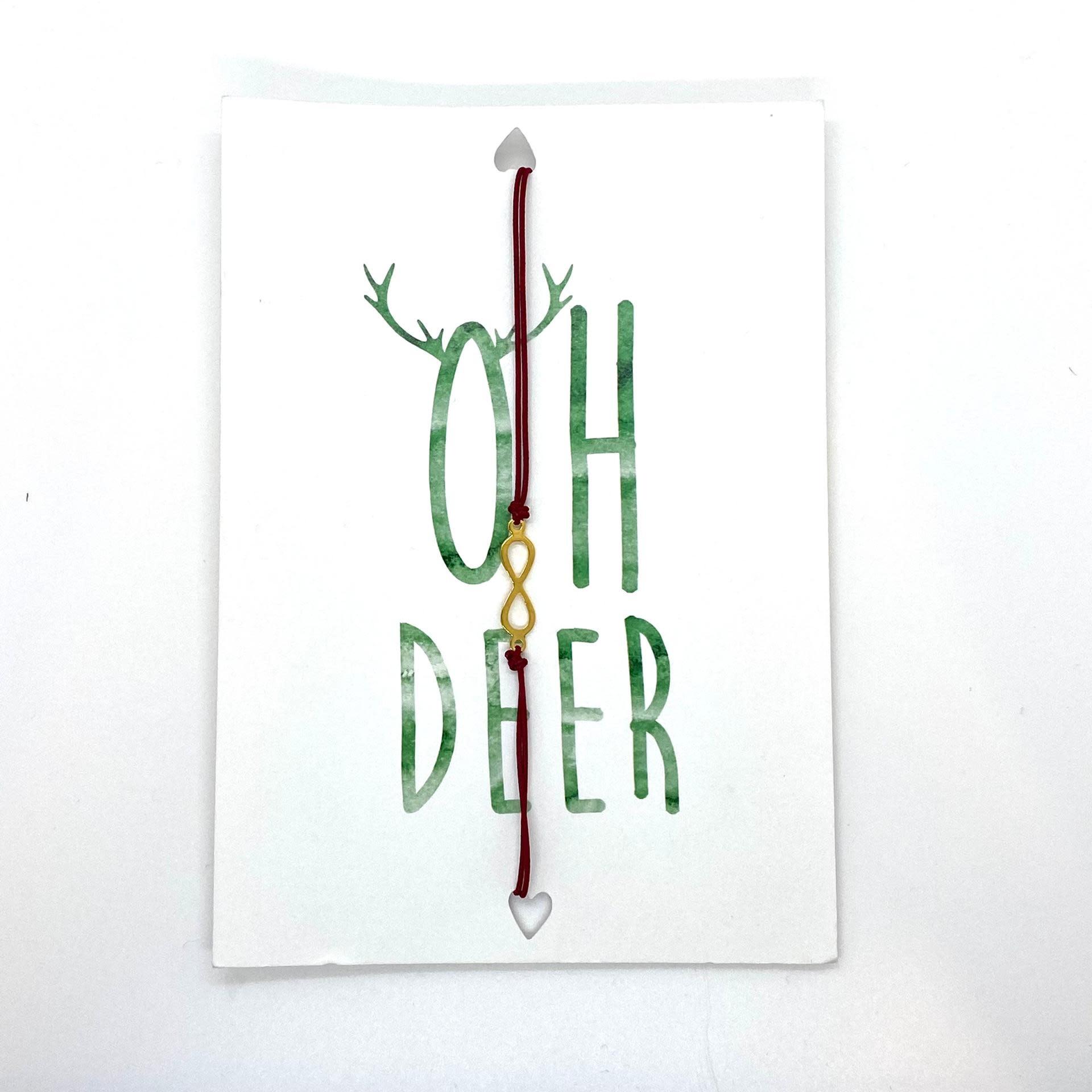Oh Deer Wenskaart Met Armbandje-1