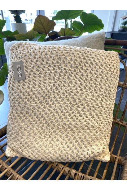 Cushion Knitted Ecru
