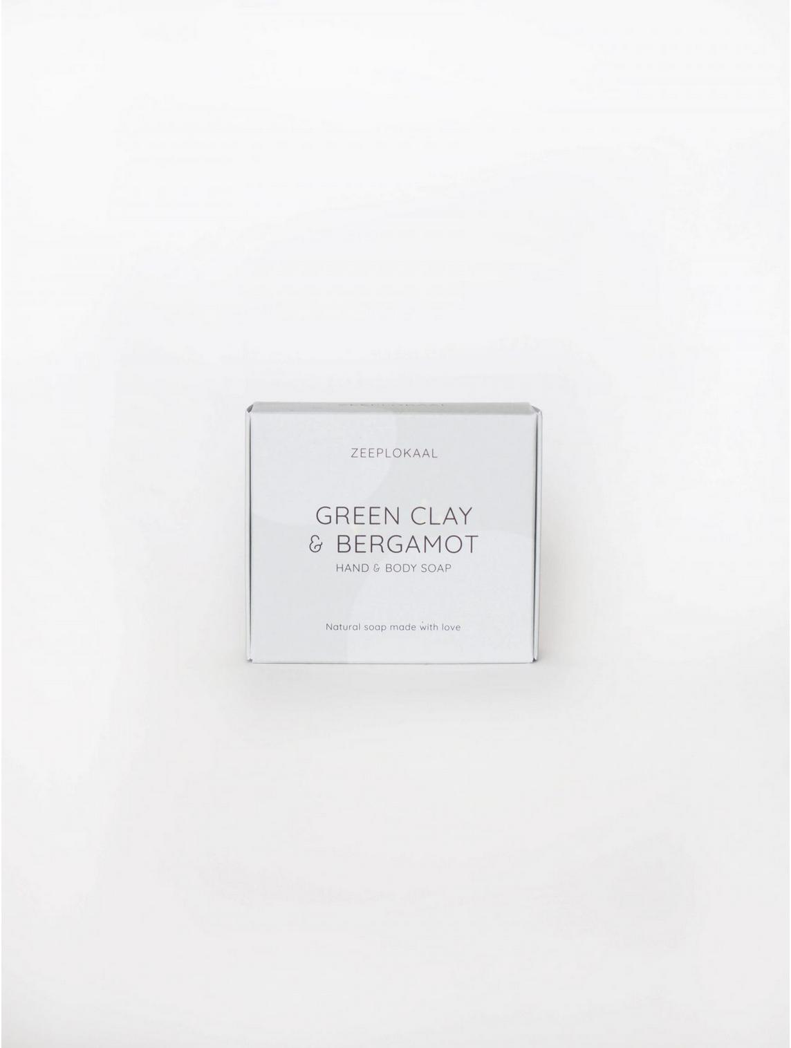 Hand- en lichaamszeep Groene Klei & Bergamot - Zeeplokaal-2