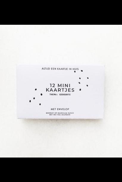 Doosje met 12 minikaartjes en envelop
