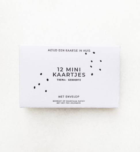 Doosje met 12 minikaartjes en envelop - Gewoon Jip-1