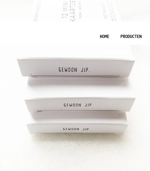 Doosje met 12 minikaartjes en envelop - Gewoon Jip-4
