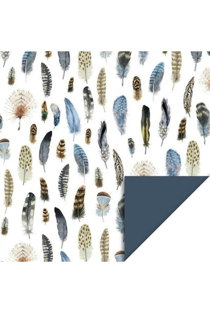 Double sided Wrapping Paper - Feathers
