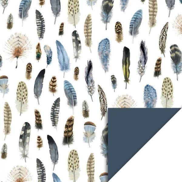 Dubbelzijdig Inpakpapier - Feathers HOP-1