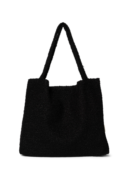 Black Bouclé Mom-Bag