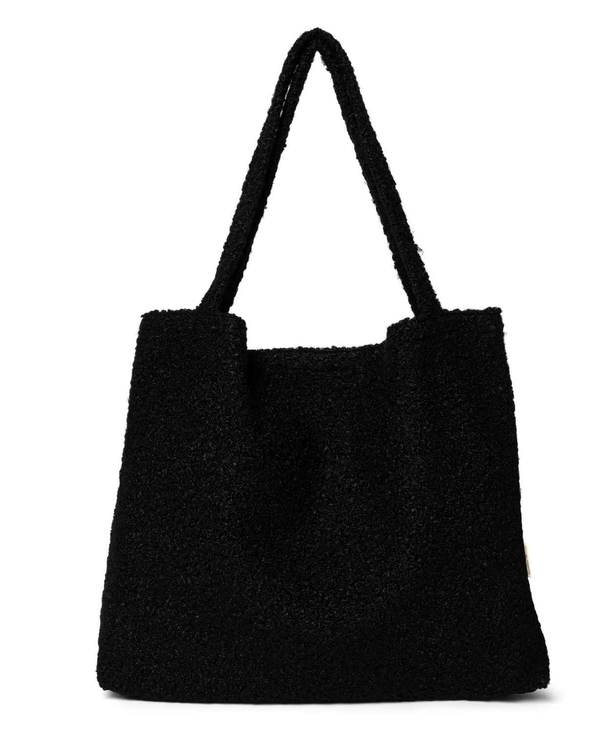 Black Bouclé Mom-Bag - Studio Noos-1