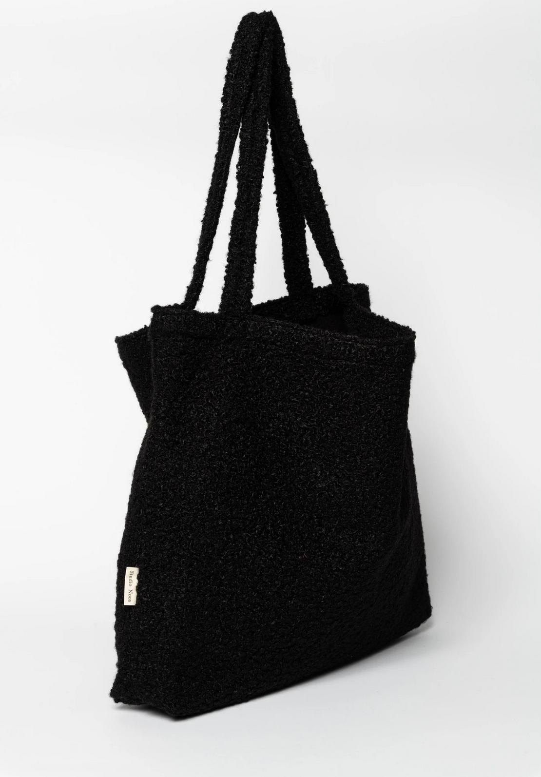 Black Bouclé Mom-Bag - Studio Noos-2
