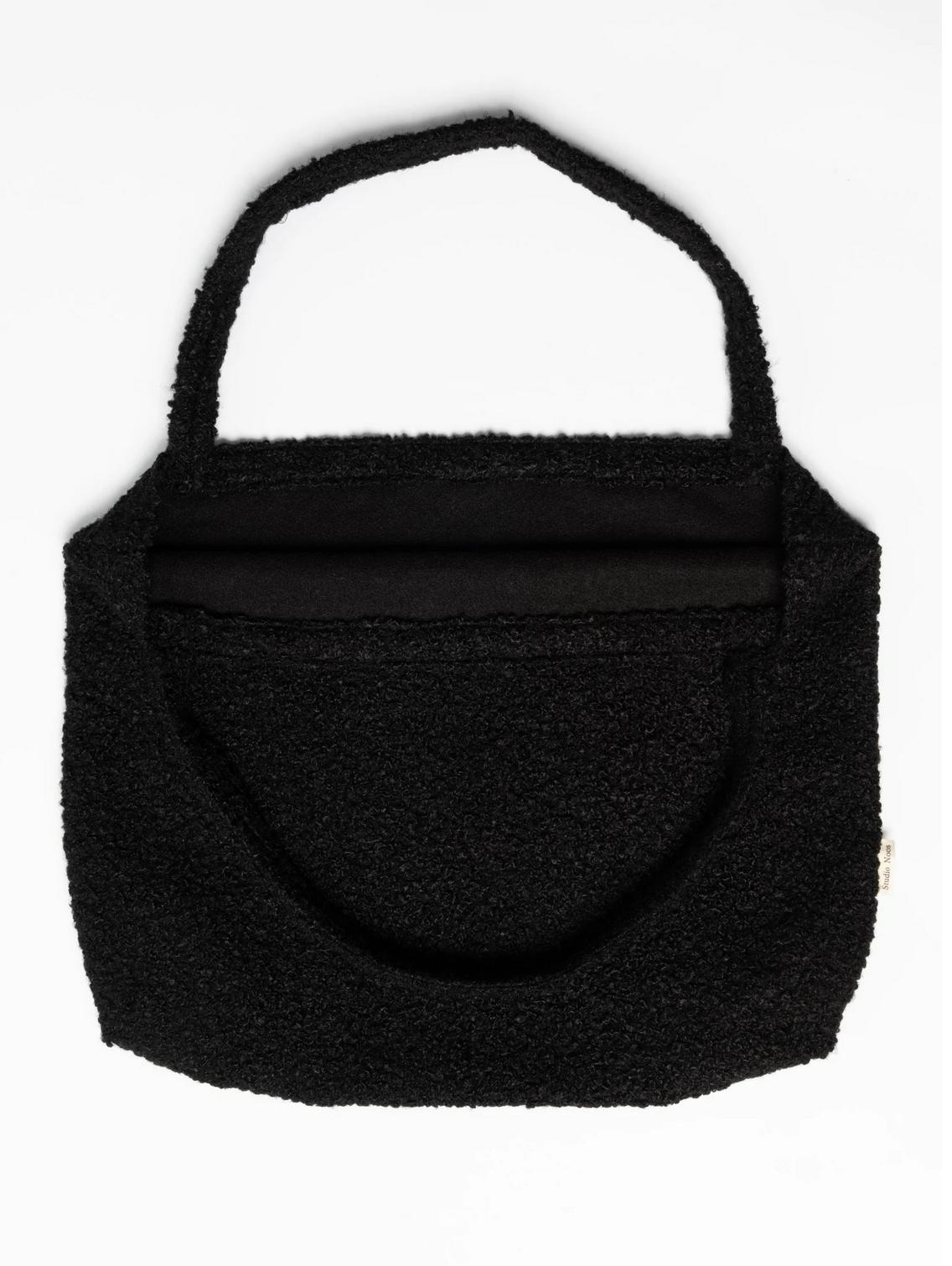 Black Bouclé Mom-Bag - Studio Noos-3