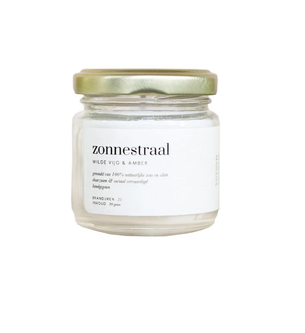 Geurkaars Zonnestraal - Wilde vijg & Amber-1