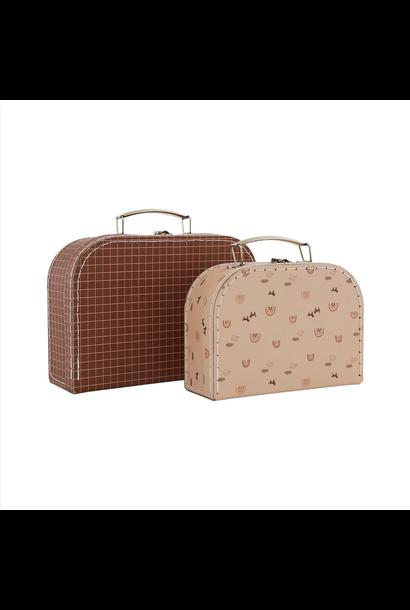 Suitcase Mini Rainbow & Grid - Set of 2