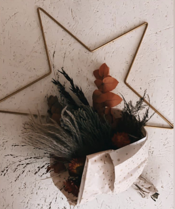 DIY Floral Star Large-1