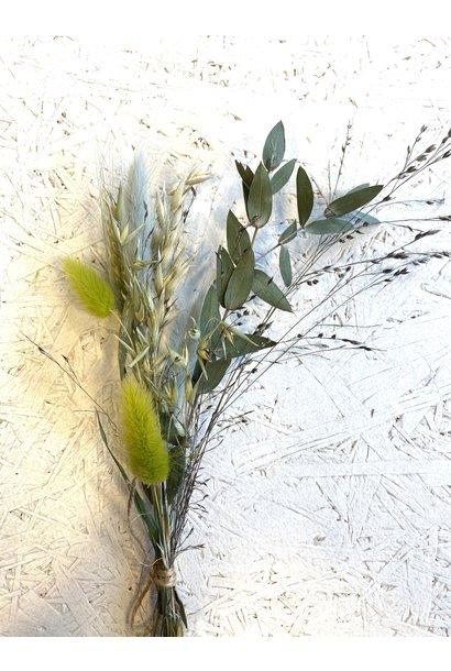 Mini Dried Flower  Bouquet Green