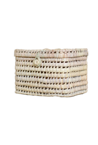 Small Basket From Palm Leaf