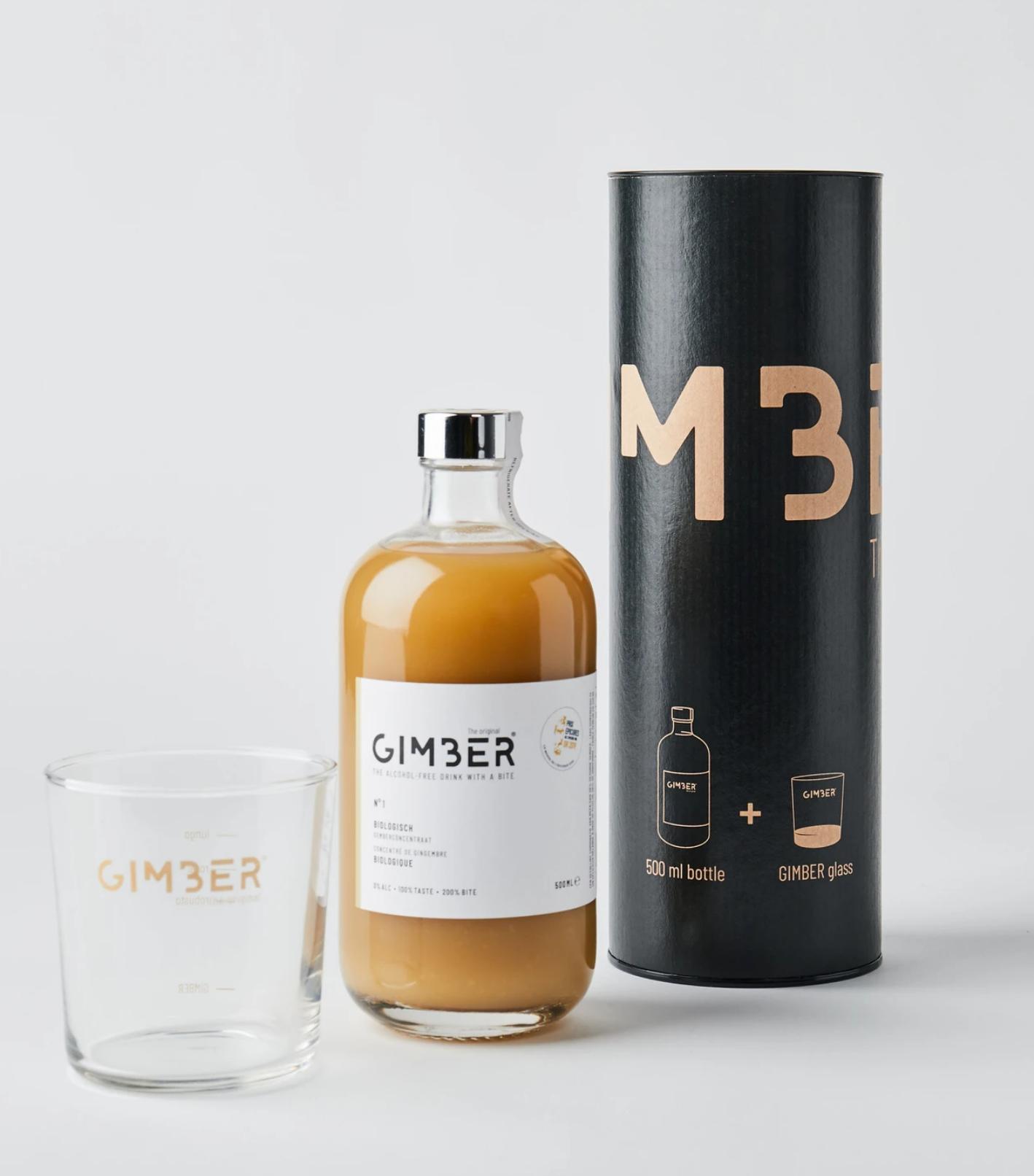 Gimber 500ml - Koker met glas-1