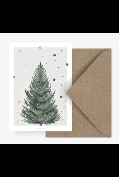 Kaartje Kerstboom - Groen