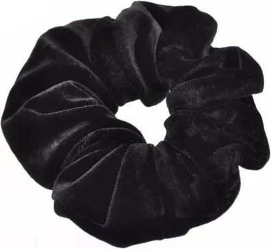 Scrunchie Zwart Velvet-1
