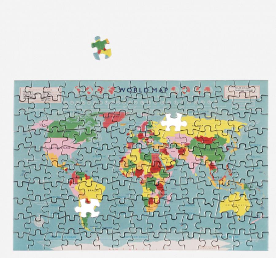 Mini Puzzel Wereldkaart-1