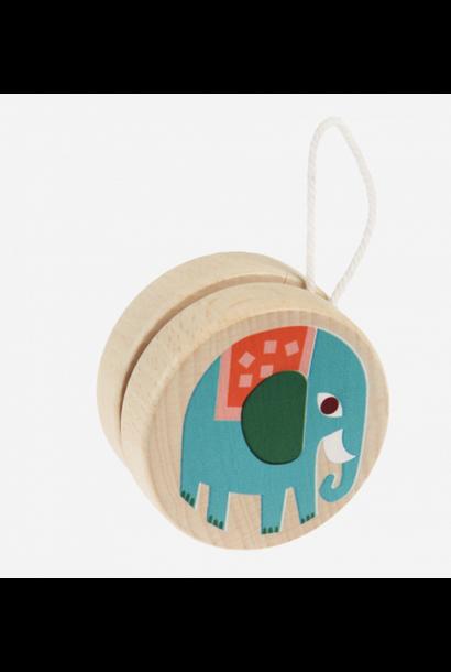 Wooden Yoyo Elephant