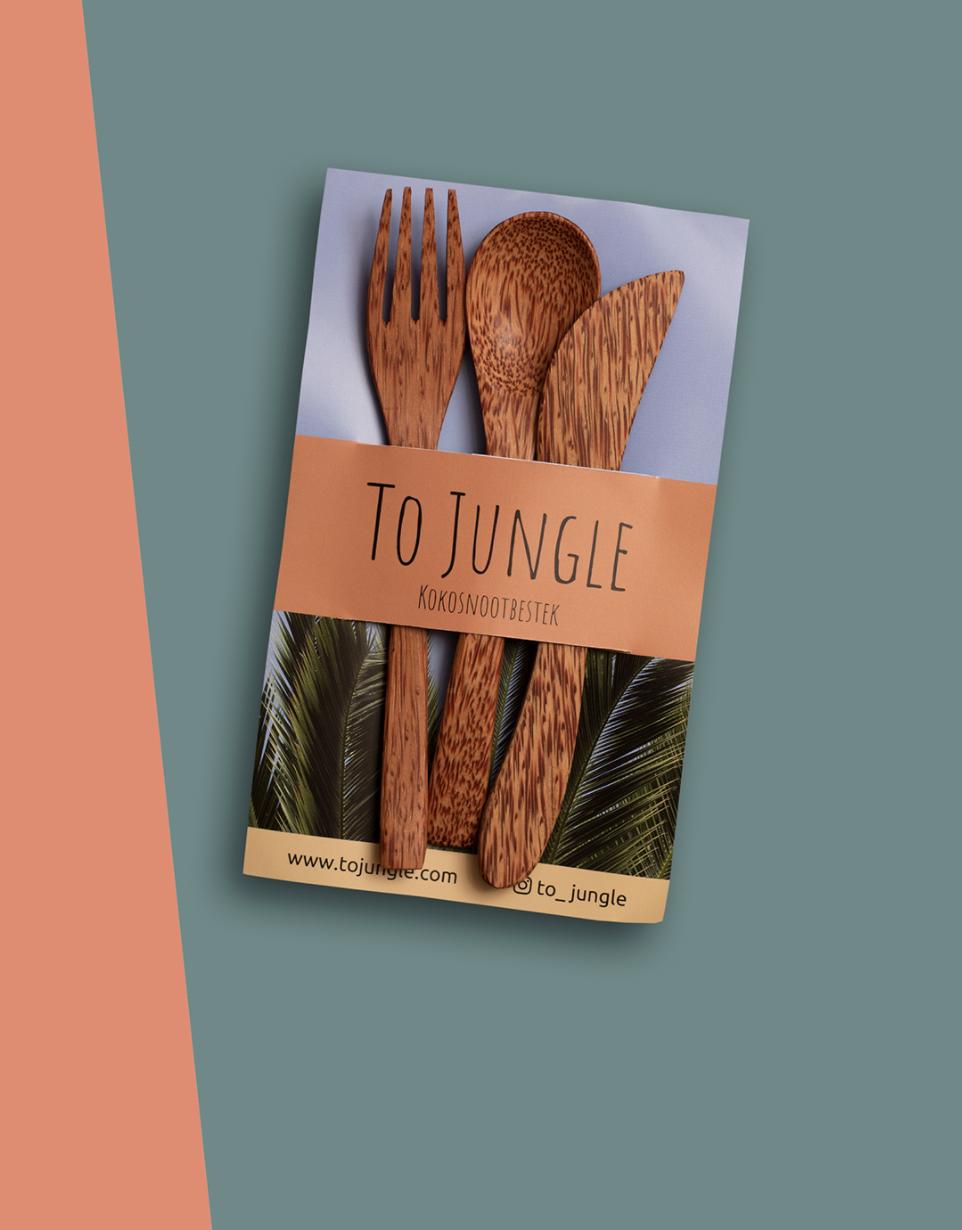 Jungle Kokosnoot Bestek - Tojungle-1