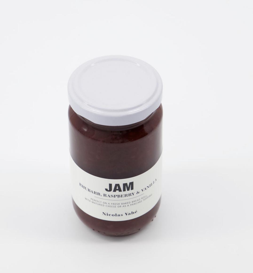 Confituur met rabarber, framboos & vanille-2