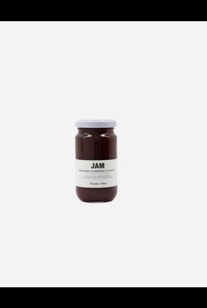 Confituur met rabarber, framboos & vanille