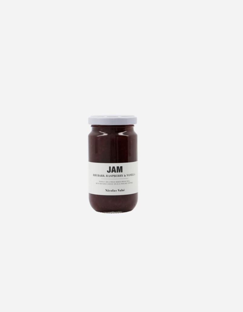 Confituur met rabarber, framboos & vanille-1