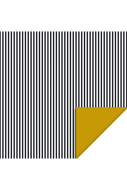 Wrapping paper Stripes Black
