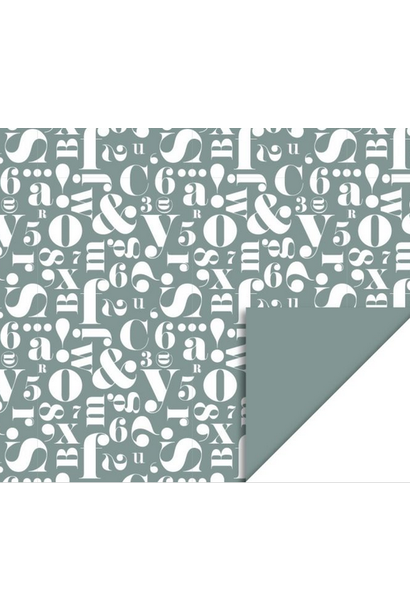 Wrapping Paper Script Green