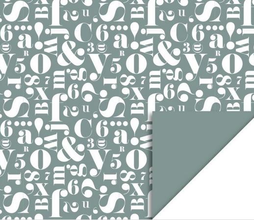 Inpakpapier Script Green-1