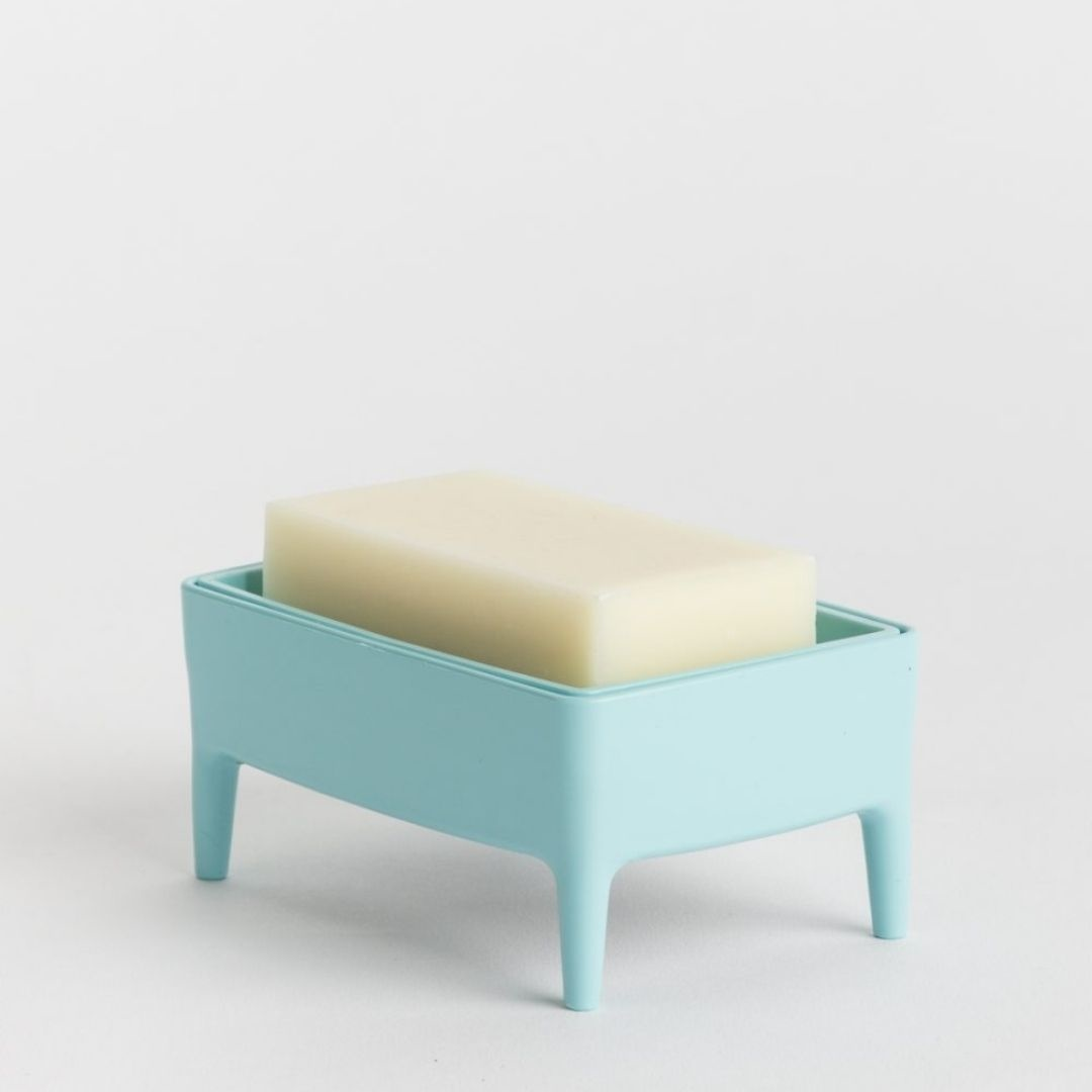 Bubble Buddy Zeephouder + zeep - Blauw - Foekje Fleur-1