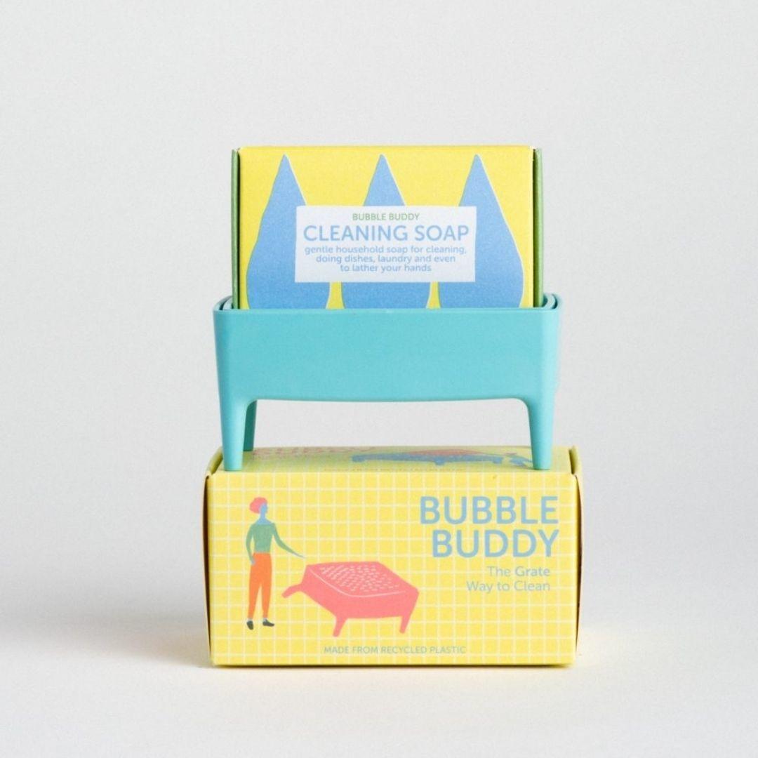 Bubble Buddy Zeephouder + zeep - Blauw - Foekje Fleur-4