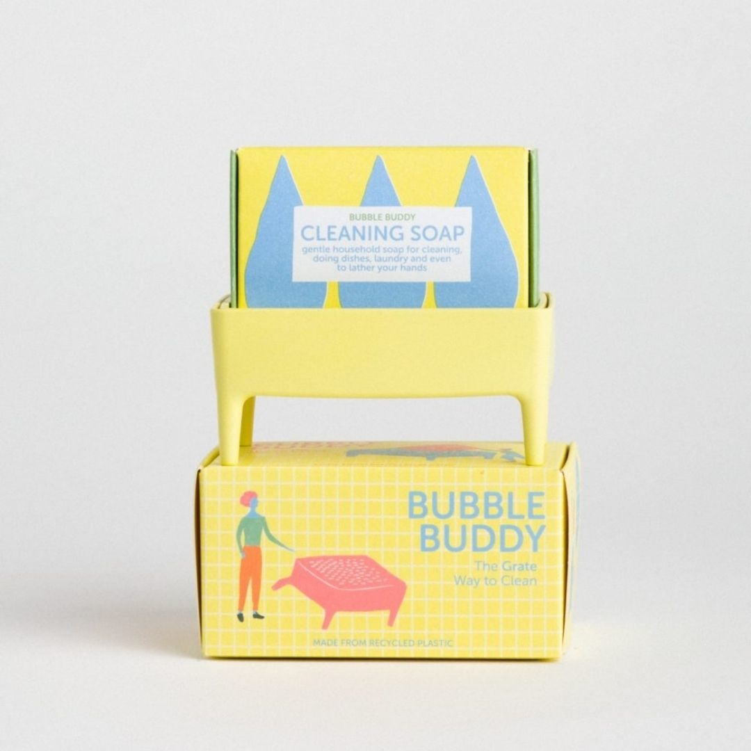 Bubble buddy mellow yellow incl. cleaning soap - Atelier Olala-4