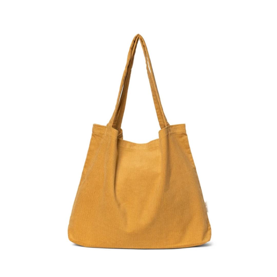 Mustard Rib Mom Bag - Atelier Olala-1