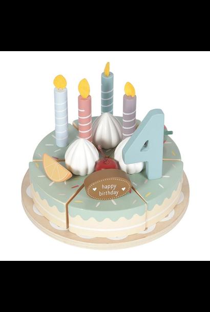 Houten verjaardagstaartje - 26-delig