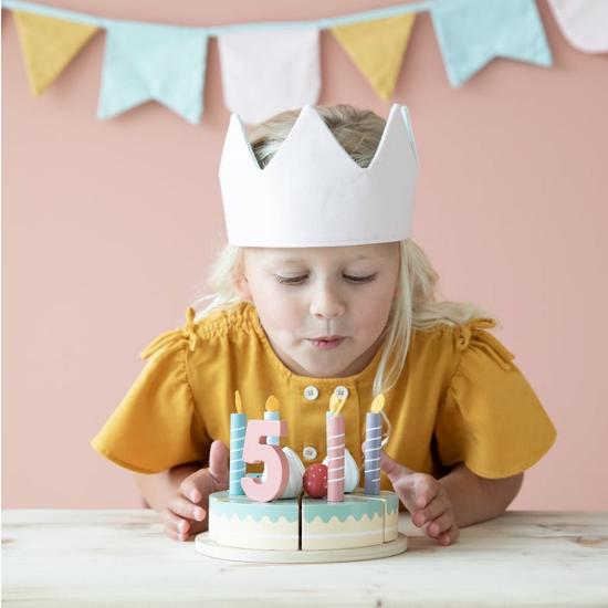 Houten verjaardagstaartje  26-delig - Little Dutch-3