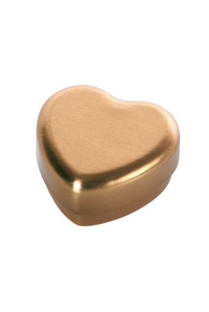 Heart-shaped Tooth Box Gold