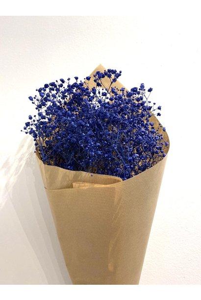 Dry Bouquet Gypsophila Flower Dark Blue
