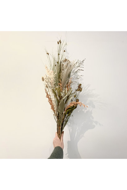 Dried Flower Bouquet Natural With a Touch of Orange