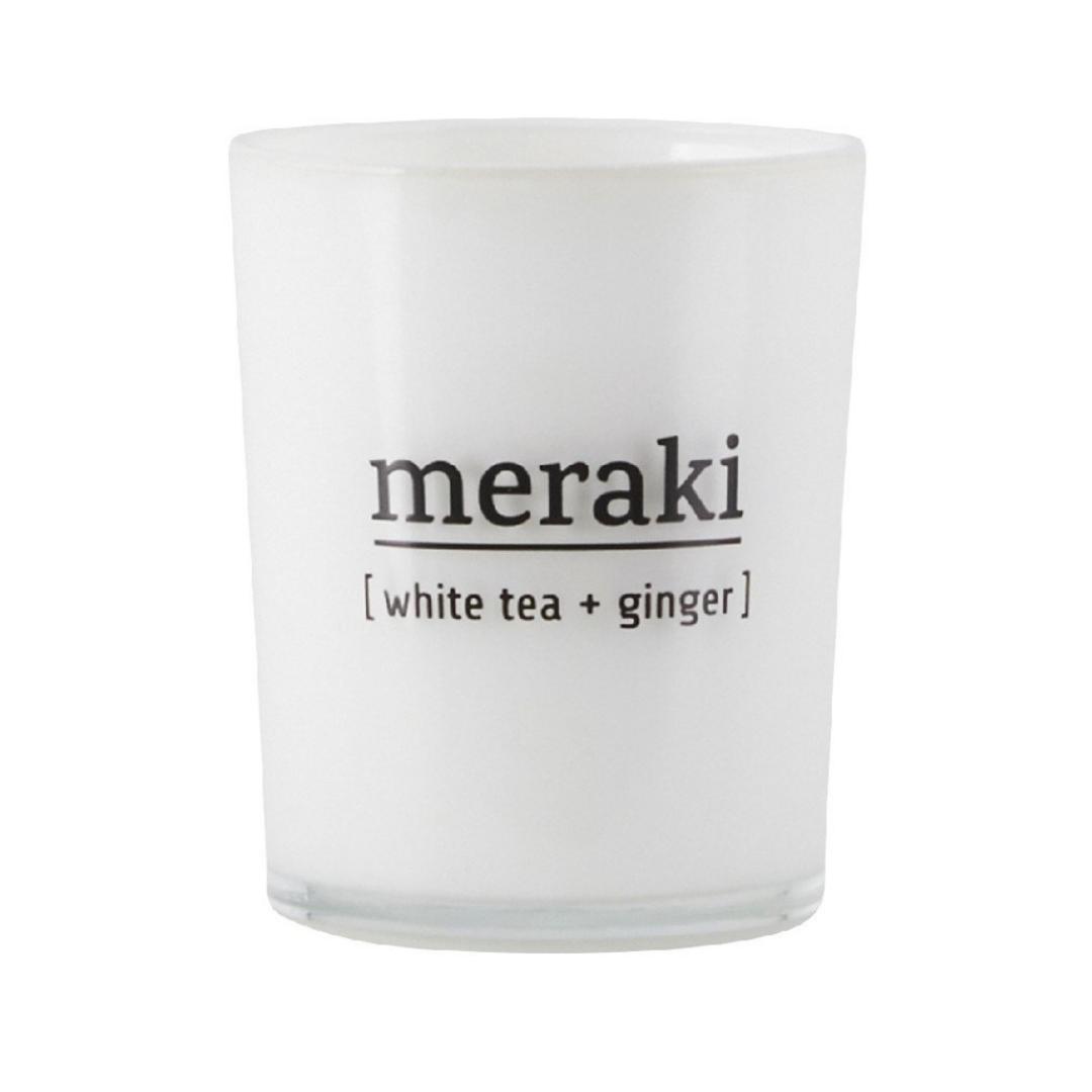 Geurkaars Witte Thee & Gember - Meraki-1