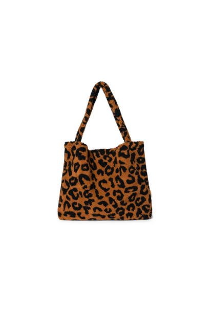 Teddy Leopard Brown Mom-Bag