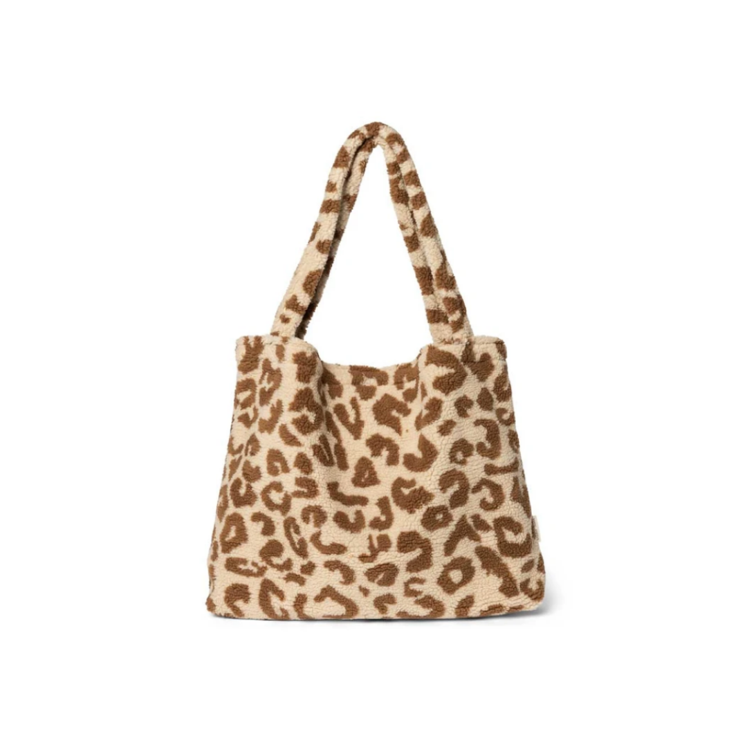 Teddy Leopard Ecru  Mom-Bag - Studio Noos-1