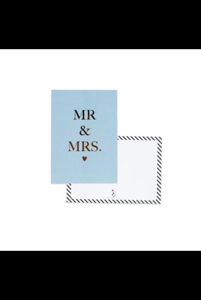 Wenskaart Mr & Mrs