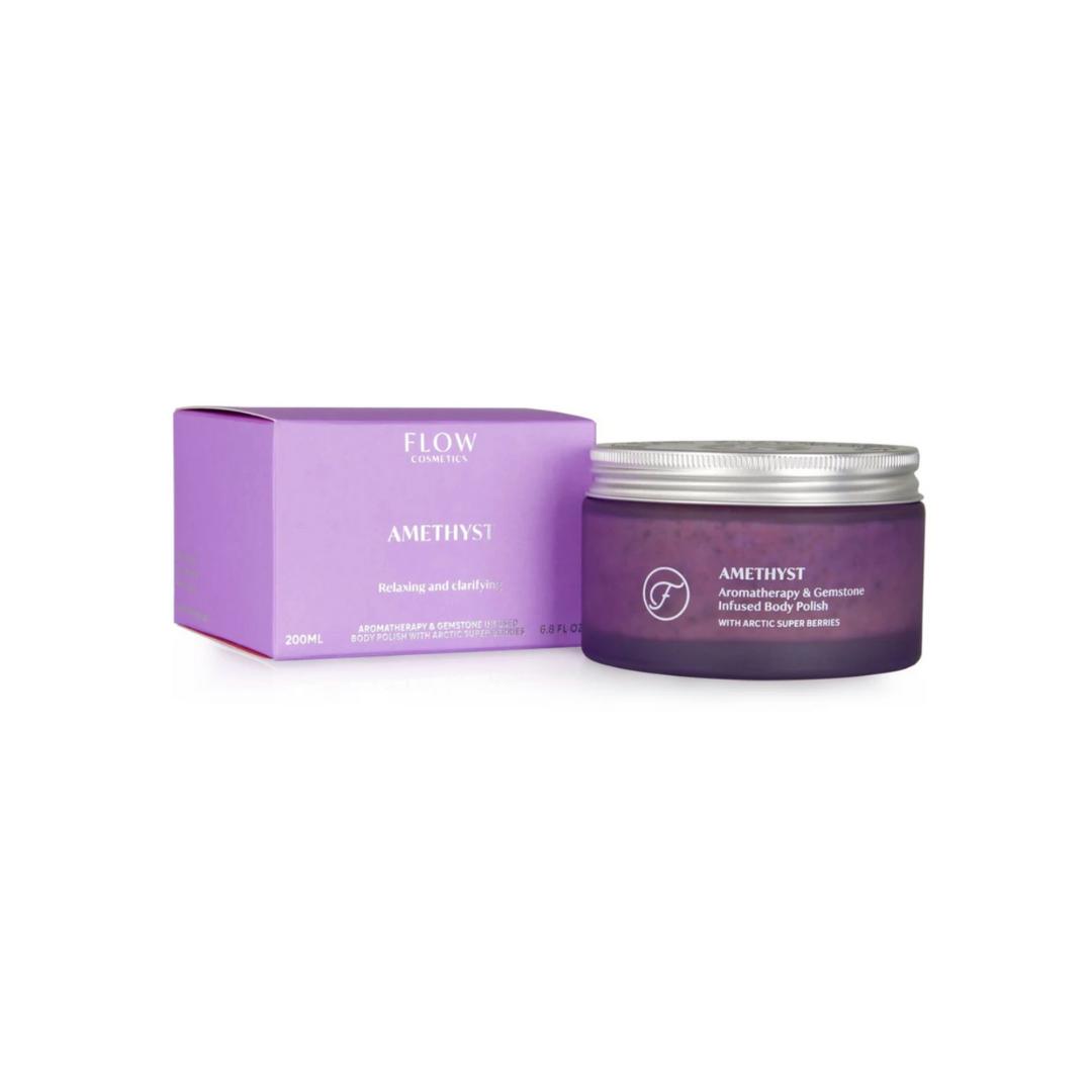 Amethyst Aromatherapie & Edelsteen Body Polish - Flow Cosmetics-1