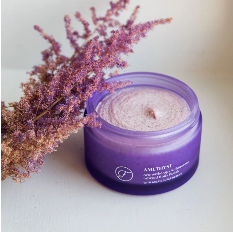 Amethyst Aromatherapie & Edelsteen Body Polish - Flow Cosmetics-2